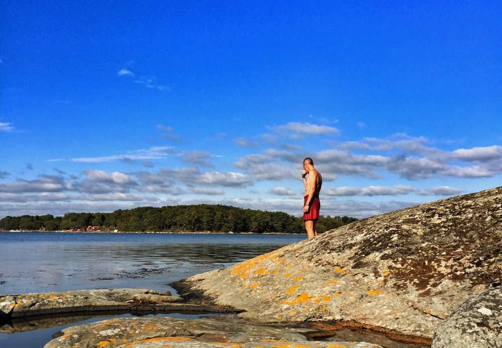 Söndagslunchbadställe på Harö