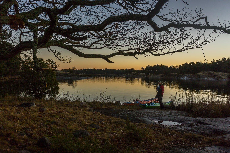 Spanar lägerplats på Ekholmen