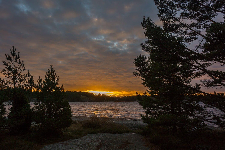 Soluppgång på Lilla Bergö