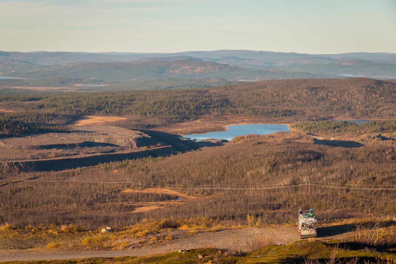 Winzent fick agera toppbestigare när vi körde upp på Luossabacken i Kiruna. Superfin vy.