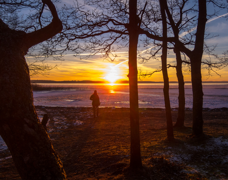 Solnedgång på gång strax innan vi hoppade på