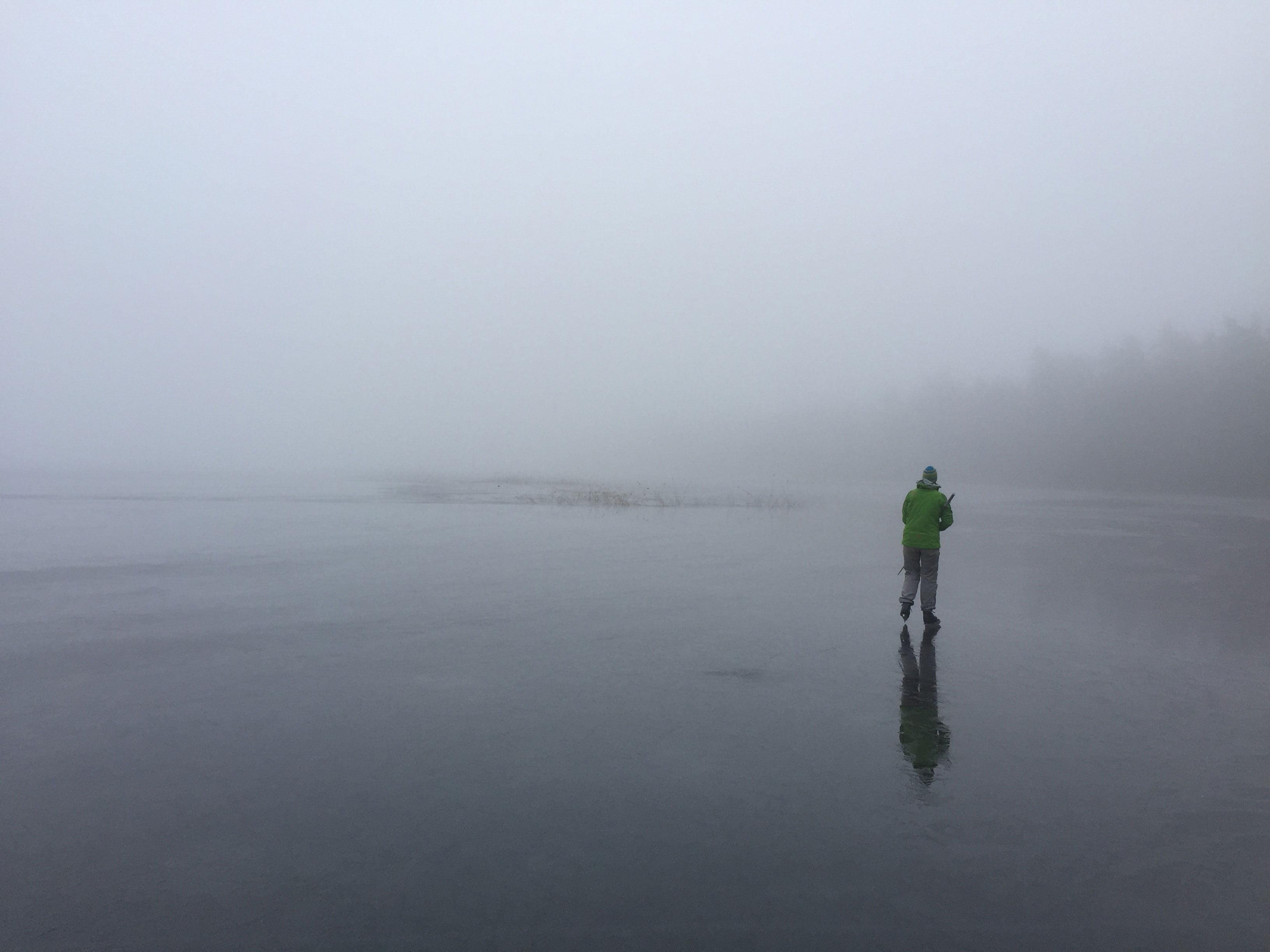 Dimigt skridskohäng på Västersjön
