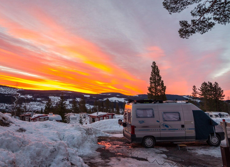 Stugbilen på Trysil camping