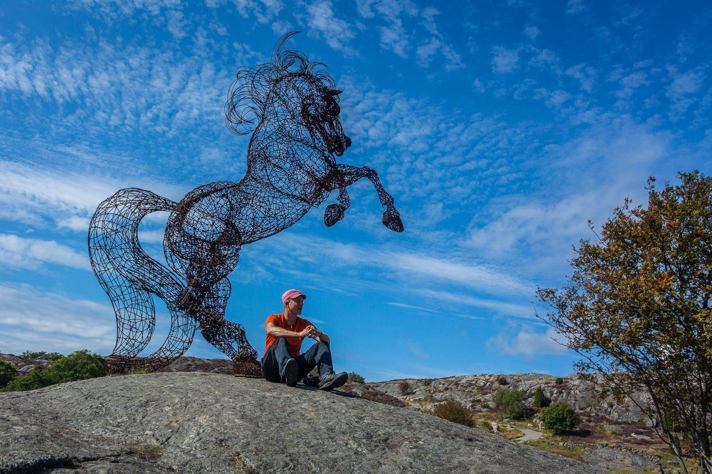 Ljung, klippor, hästar och en kajaksmurf