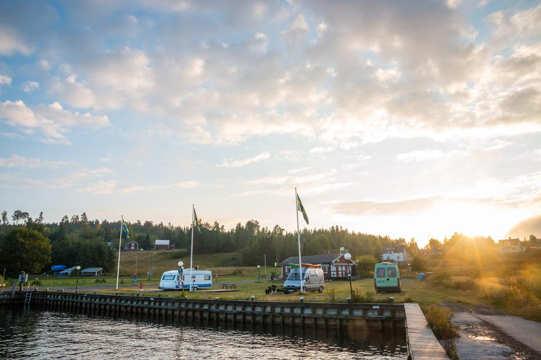 Liten gullig camping och hamn