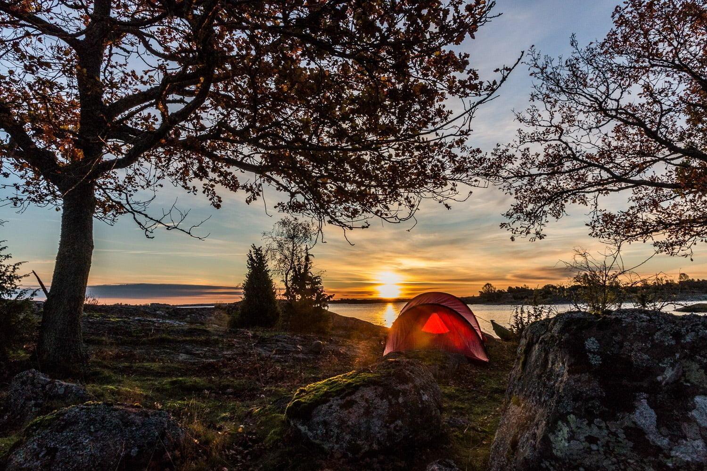 Oktobermorgon på Slädö i Listerby skärgård, Blekinge