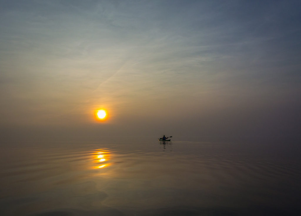 Marsig solnedgång