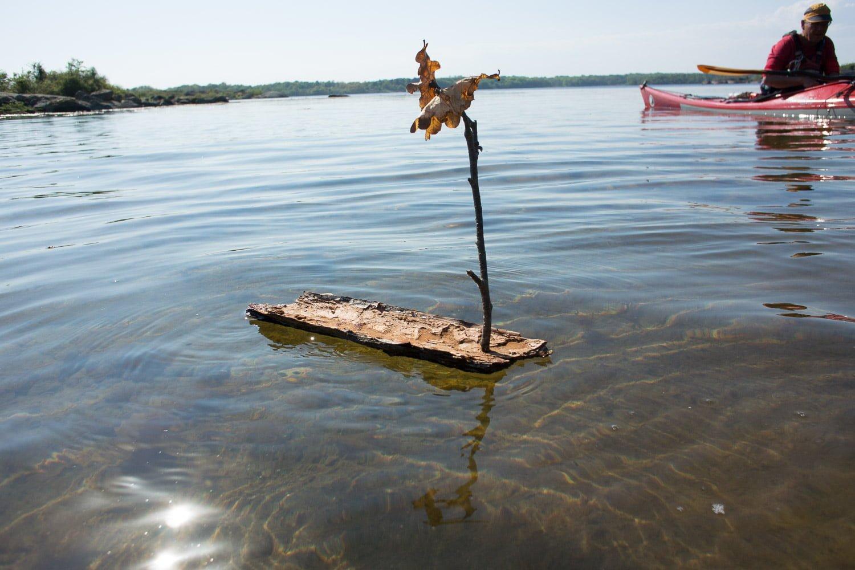 Gabbes barkbåt, fint ska det va :)