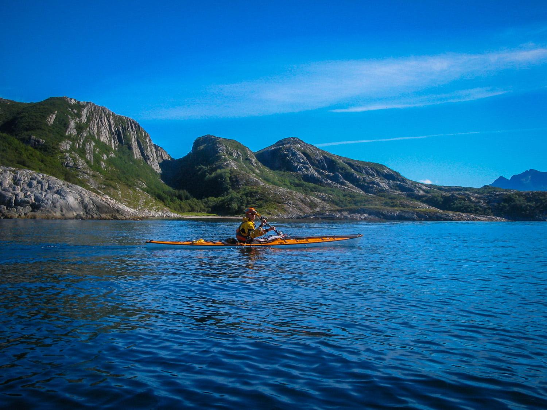 På väg norrut mellan Lurøy och Stigen