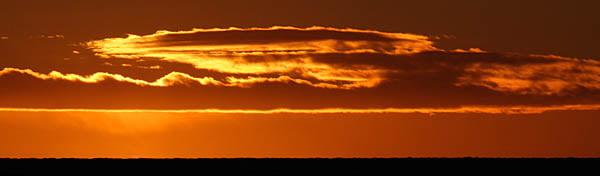 Fint kvällsljus på Dannemarks västsida
