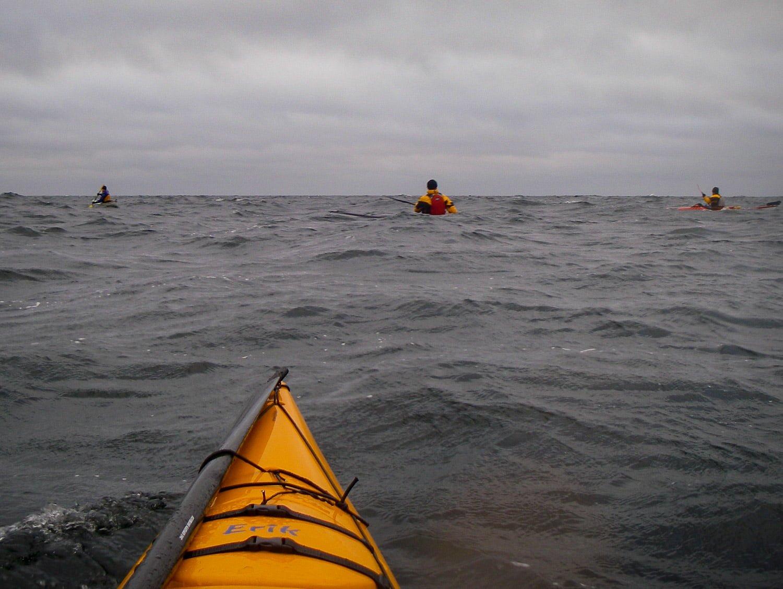 På väg från Tärnö. Lite skrynkligare vatten