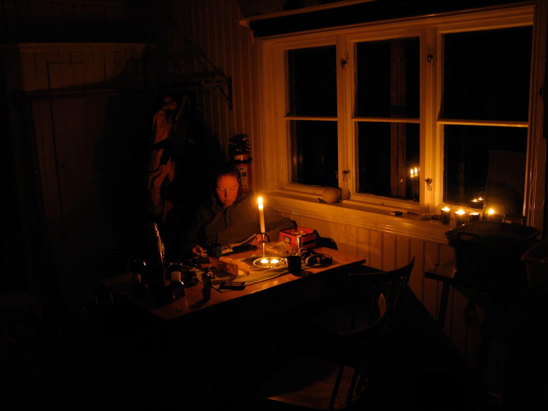 Kvällsmys i Lillstugan på Valö
