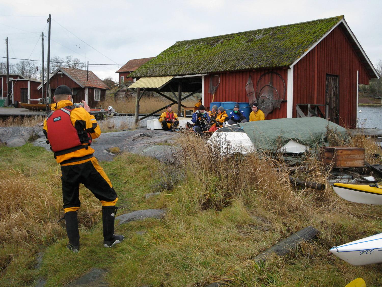 Fika på Strupö på väg tillbaka mot Klintemåla