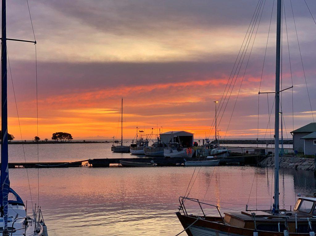 Solnedgång i Sandhamn